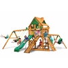 Gorilla Playsets Frontier Treehouse Swing Set w/ Amber Posts