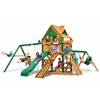 Gorilla Playsets Frontier Treehouse Swing Set w/ Timber Shield