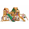 Gorilla Playsets Pioneer Peak Treehouse Swing Set w/ Amber Posts