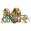 Gorilla Playsets Pioneer Peak Treehouse Swing Set w/ Timber Shield