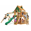 Gorilla Playsets Navigator Treehouse Swing Set w/ Amber Posts