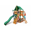 Gorilla Playsets Chateau Tower Swing Set w/ Timber Shield and Deluxe Green Vinyl Canopy