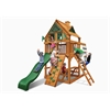 Gorilla Playsets Chateau Treehouse Tower Swing Set w/ Amber Posts