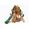 Chateau Tower Treehouse Swing Set w/ Fort Add-On & Amber Posts