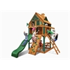 Gorilla Playsets Chateau Treehouse Tower Swing Set  w/ Fort Add-On & Timber Shield