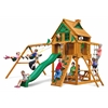 Gorilla Playsets Chateau Treehouse Swing Set w/ Fort Add-On & Amber Posts