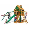 Chateau Treehouse Swing Set w/ Fort Add-On & Timber Shield