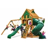 Mountaineer Treehouse Swing Set w/ Fort Add-On & Amber Posts