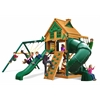 Gorilla Playsets Mountaineer Treehouse Swing Set w/ Fort Add-On & Timber Shield