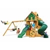Gorilla Playsets Mountaineer Clubhouse Treehouse Swing Set w/ Fort Add-On & Amber Posts