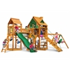 Pioneer Peak Treehouse Swing Set w/ Fort Add-On &  w/ Amber Posts