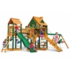 Pioneer Peak Treehouse Swing Set w/ Fort Add-On & Timber Shield