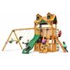 Gorilla Playsets Malibu Clubhouse Swing Set w/ Amber Posts
