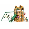 Gorilla Playsets Malibu Clubhouse Swing Set w/ Timber Shield