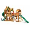 Gorilla Playsets Malibu Treasure Trove I Swing Set w/ Amber Posts