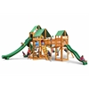 Gorilla Playsets Treasure Trove II Swing Set w/ Amber Posts and Deluxe Green Vinyl Canopy