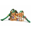 Gorilla Playsets Treasure Trove II Swing Set w/ Amber Posts and and Sunbrella Canvas Forest Green Canopy