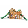 Gorilla Playsets Treasure Trove II Swing Set w/ Amber Posts and and Sunbrella Weston Ginger Canopy
