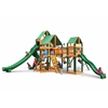 Treasure Trove II Swing Set w/ Timber Shield and Deluxe Green Vinyl Canopy