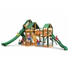 Treasure Trove II Swing Set w/ Timber Shield and Sunbrella Canvas Forest Green Canopy