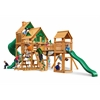 Gorilla Playsets Treasure Trove Treehouse Swing Set w/ Amber Posts