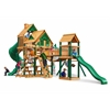 Gorilla Playsets Treasure Trove Treehouse Swing Set w/ Timber Shield