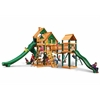 Treasure Trove II Treehouse Swing Set w/ Timber Shield