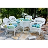Tortuga Outdoor Portside 5Pc Dining Set - White - Haliwell Caribbean