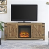"58"" Barn Door Fireplace TV Stand - Barnwood"