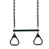 "17"" Trapeze Bar w/ Rings - Green"