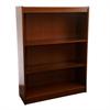 "Contemporary 48""H wood veneer bookcase, Medium Cherry"