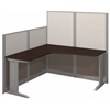 Office in an Hour 65W x 65D L-Workstation in Mocha Cherry