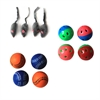 Iconic Pet - Fur Mice, Plastic Ball & Bouncing Softball - Set of 3