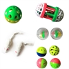 Iconic Pet - Fur mice, Plastic Roller & Plastic Balls - Set of 5