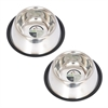 2 Pack Non-Skid Spaniel/Cocker Bowl for dog - 8 oz - 1 cup
