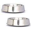 2 Pack Anti Ant Stainless Steel Non Skid Pet Bowl for Dog or Cat - 16 oz - 2 cup