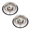 2 Pack Slow Feed Stainless Steel Pet Bowl for Dog or Cat - Medium - 24 oz
