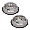 2 Pack Heavy Weight Non-Skid Easy Feed High Back Pet Bowl for Dog or Cat - 8 oz - 1 cup
