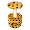 Iconic Pet - Paw Print Sisal Cat Scratching Condo - Beige