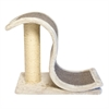 Scratch and Slide Wave Scratcher with Sisal Post - Grey
