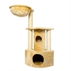 Iconic Pet - Peek-a-boo Cat Tree  with sisal scratching posts - Beige