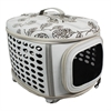Iconic Pet - Deluxe Retreat Foldable Pet House - Light Grey Printing