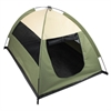 Cozy Camp Pet Tent House - Sage Green with Beige