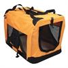 Iconic Pet - Versatile Pet Soft Crate with Fleece Mat - Orange - Small