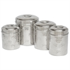 Set of 4 different sizes of Canister with Embossing
