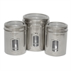 Set of 3 different sizes of Canister with see through lids