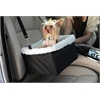 Iconic Pet - FurryGo Adjustable Luxury Pet Car Booster Seat - Black - Large