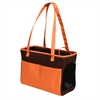 Iconic Pet - FurryGo Pet Shoulder Carrier/Bag - Coffee/Orange
