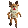 Iconic Pet - Christmas Reindeer Stuffed Plush Squeaky Holiday Pet (Dog) Toy