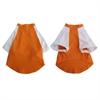 Iconic Pet - Pretty Pet Orange and White Top - X Small